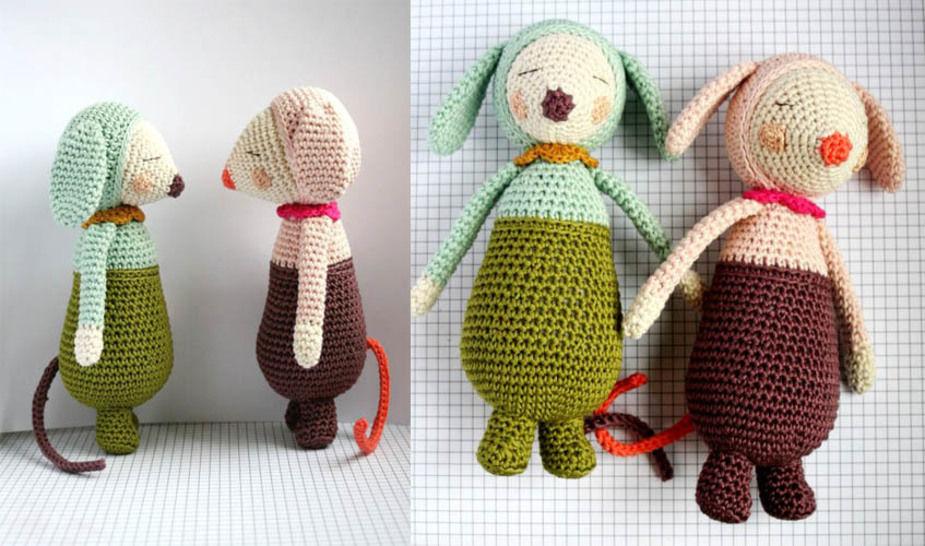 Télécharger Olive et Violette - patron détaillé - Modèles de crochet tout de suite sur Makerist