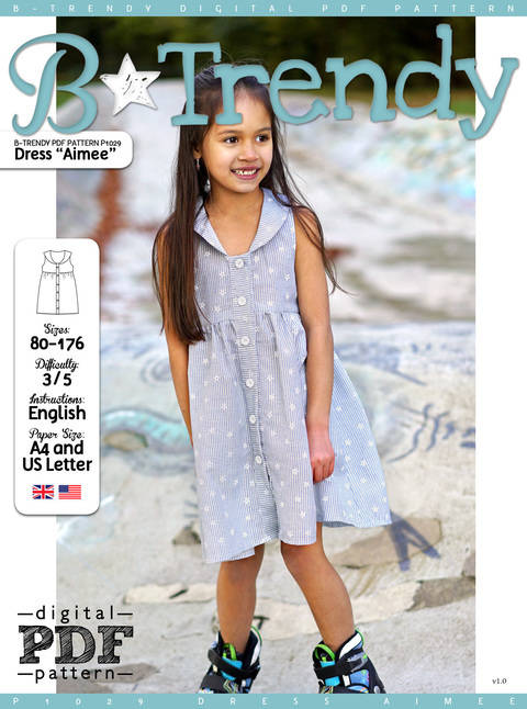 Download Dress AIMEE PDF Pattern + Tutorial immediately at Makerist
