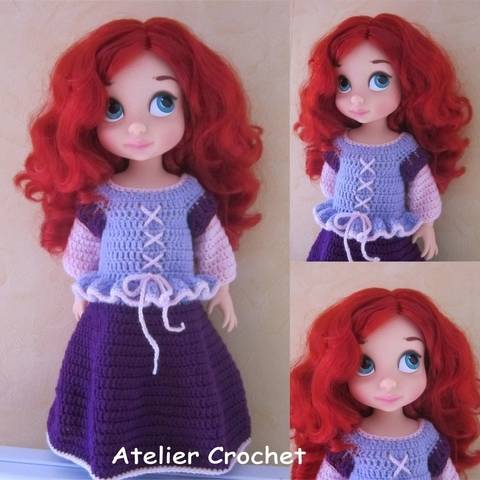 "Download ""Princess"" crochet pattern for Disney Animator immediately at Makerist"