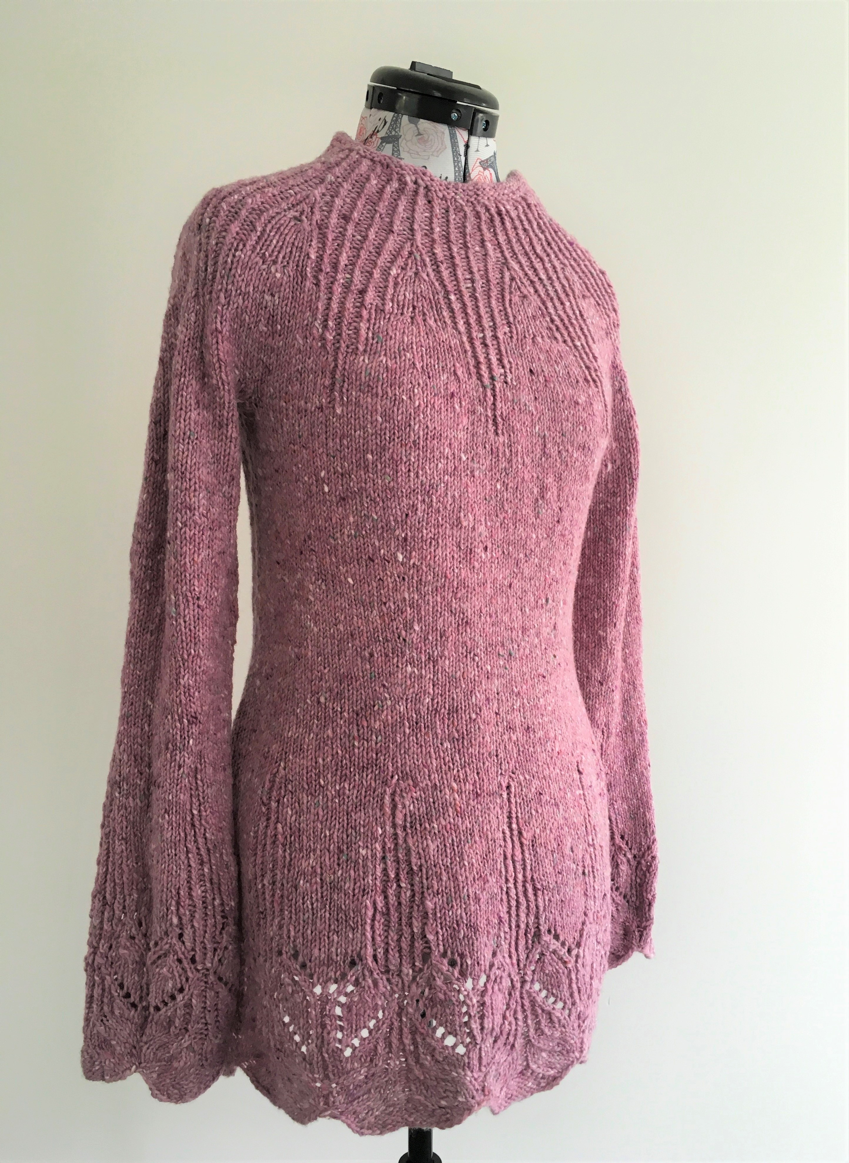 Nubnik Sweater Knitting Pattern In Five Sizes