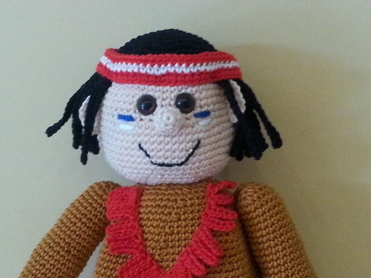 Amaru, der kleine Apache - Häkelanleitung - Häkelanleitungen bei Makerist sofort runterladen