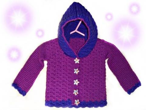 Download Baby Jacket Shell Look Size 62 (3-4 Month) – Crochet Pattern immediately at Makerist