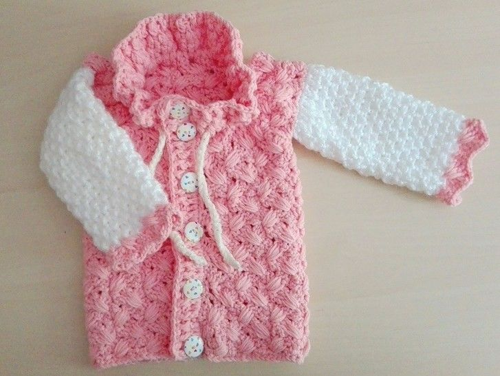 Download Baby jacket with scale pattern size UK 1 month till 7 yrs immediately at Makerist