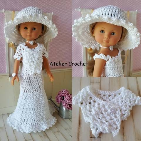 "Download ""Bride"" crochet pattern for Chérie Corolle immediately at Makerist"