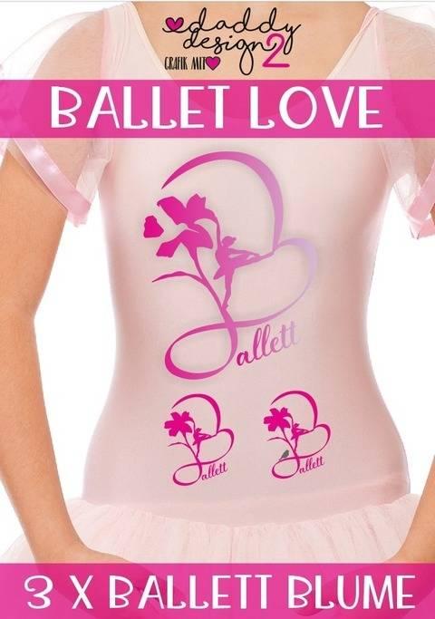 BALLETT LOVE - Ballerina Blume - Schattenmotiv bei Makerist sofort runterladen