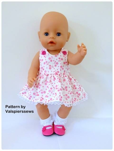 "Download Baby Doll Pinafore for 17"" Baby Born Doll immediately at Makerist"