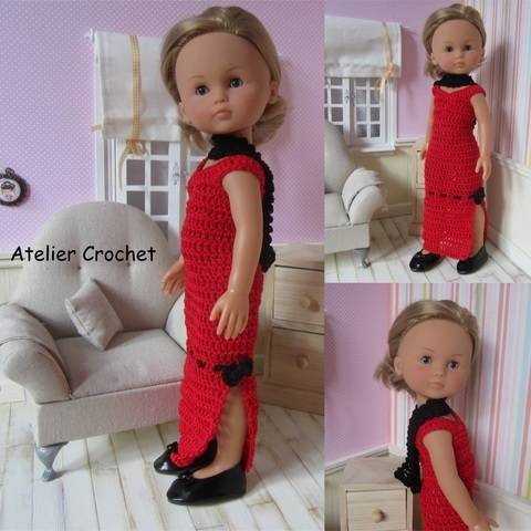 """Download """"Red and Black"""" crochet pattern for Chérie Corolle immediately at Makerist"""