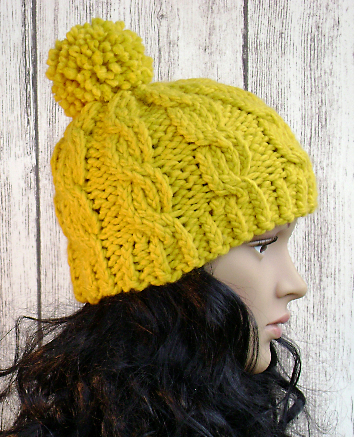 Easy Cable Beanie - Knit Pattern - Women Hat