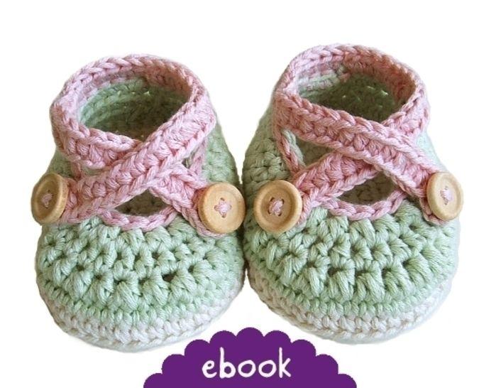 ❤ Häkelanleitung ❤ Cross Strap Baby Loafers - Häkelanleitungen bei Makerist sofort runterladen