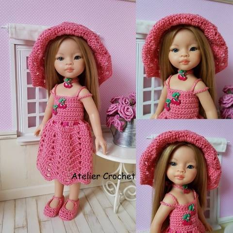 """Download """"Miss Cherry"""" crochet pattern for Paola Reina immediately at Makerist"""