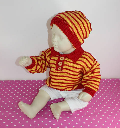 Download Baby & Toddler Stripe Sweater and Beanie Hat immediately at Makerist