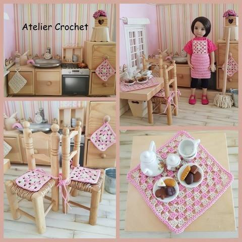 """Download  """"My doll's kitchen"""" pattern for any 32-34 cm doll immediately at Makerist"""