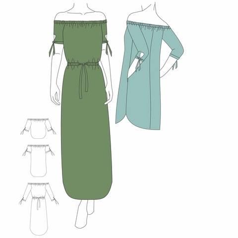 Bluse & Kleid MEKKO - Gr. 32 - 48 bei Makerist sofort runterladen