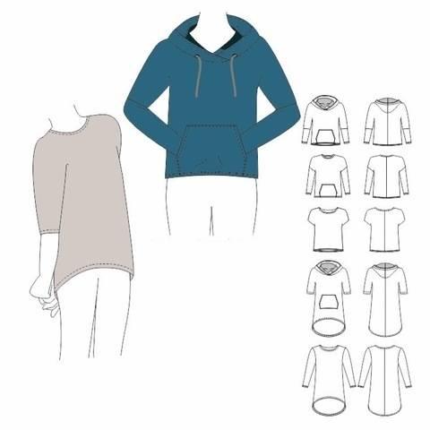 Shirt / Tunika / Hoodie LEWI - Gr. 104 -158 bei Makerist sofort runterladen