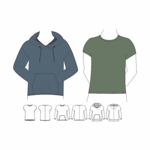 Shirt / Hoodie LENN Gr. 44 - 60 (S-XXL) bei Makerist sofort runterladen
