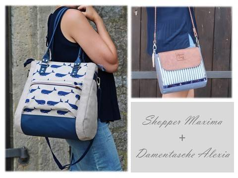 Sparpaket: Shopper Maxima + Damentasche Alexia bei Makerist
