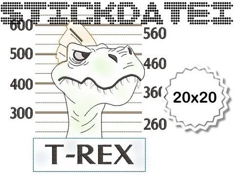 T-Rex Doodle 20x20 bei Makerist