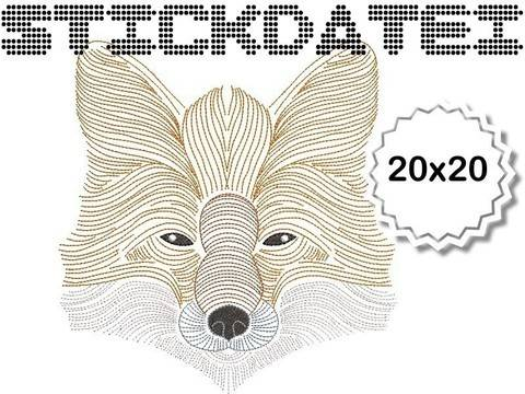 Fuchs Lineart 20x20 bei Makerist