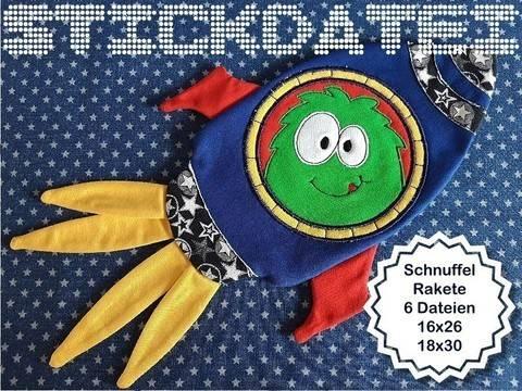Schnuffeltuch Rakete ITH 16x26 und 18x30 bei Makerist