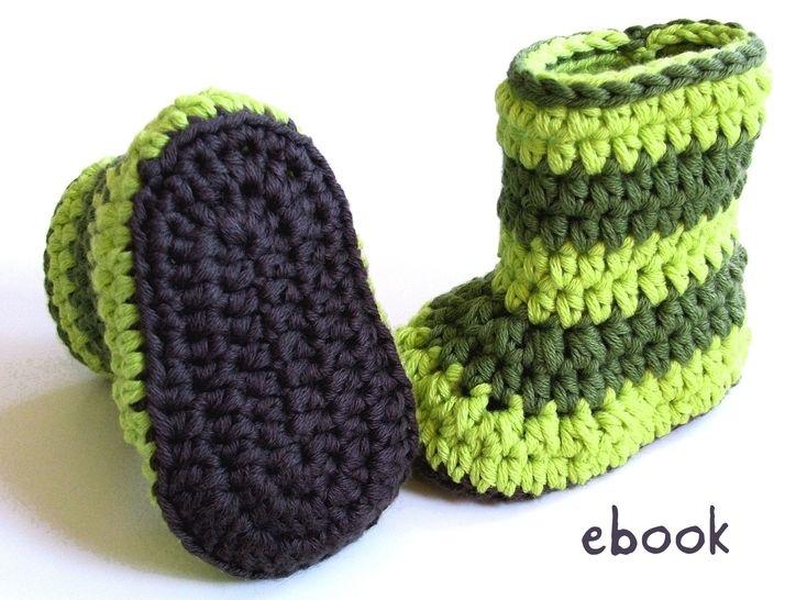 ❤ Häkelanleitung ❤ Baby Booties Froggy - Häkelanleitungen bei Makerist sofort runterladen