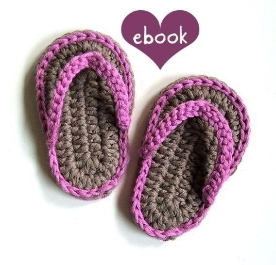 ❤ Häkelanleitung ❤ Baby Flip Flops