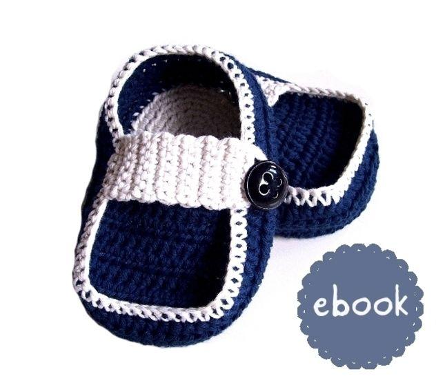 ❤ Häkelanleitung ❤ Navy Baby Loafers - Häkelanleitungen bei Makerist sofort runterladen