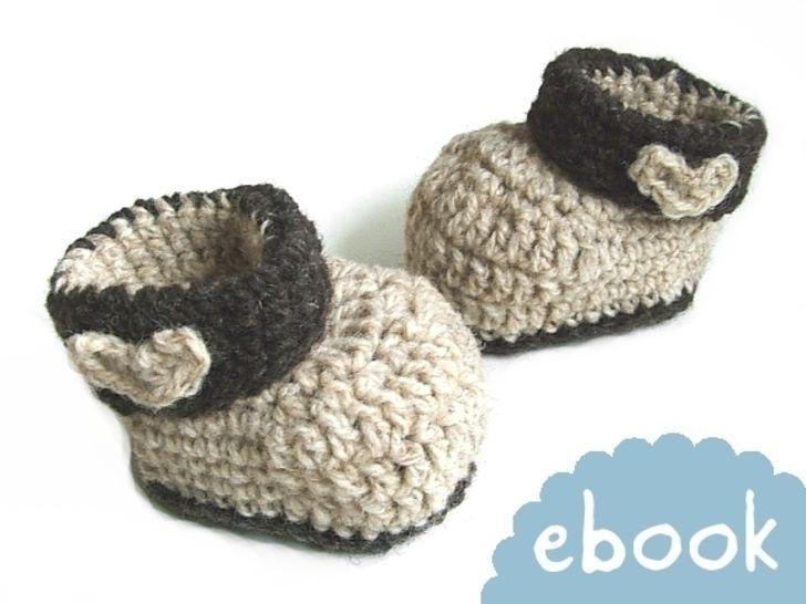 ❤ Häkelanleitung ❤ Woolen Baby Booties - Häkelanleitungen bei Makerist sofort runterladen