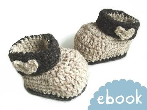 ❤ Häkelanleitung ❤ Woolen Baby Booties bei Makerist