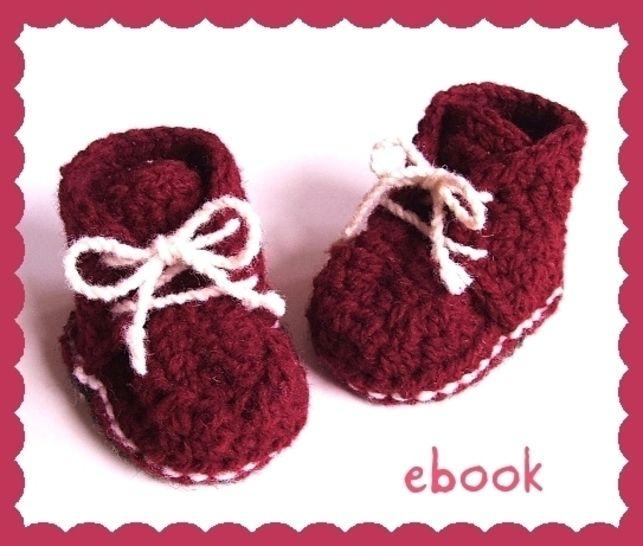 ❤ Häkelanleitung ❤ Red Baby Booties - Häkelanleitungen bei Makerist sofort runterladen