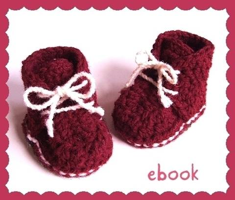 ❤ Häkelanleitung ❤ Red Baby Booties bei Makerist sofort runterladen