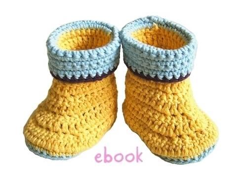 ❤ Häkelanleitung ❤ Baby Rubber Booties bei Makerist