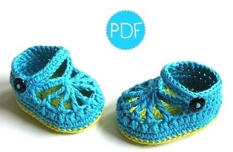 ❤ Häkelanleitung ❤ BlueGreen Baby Loafers bei Makerist