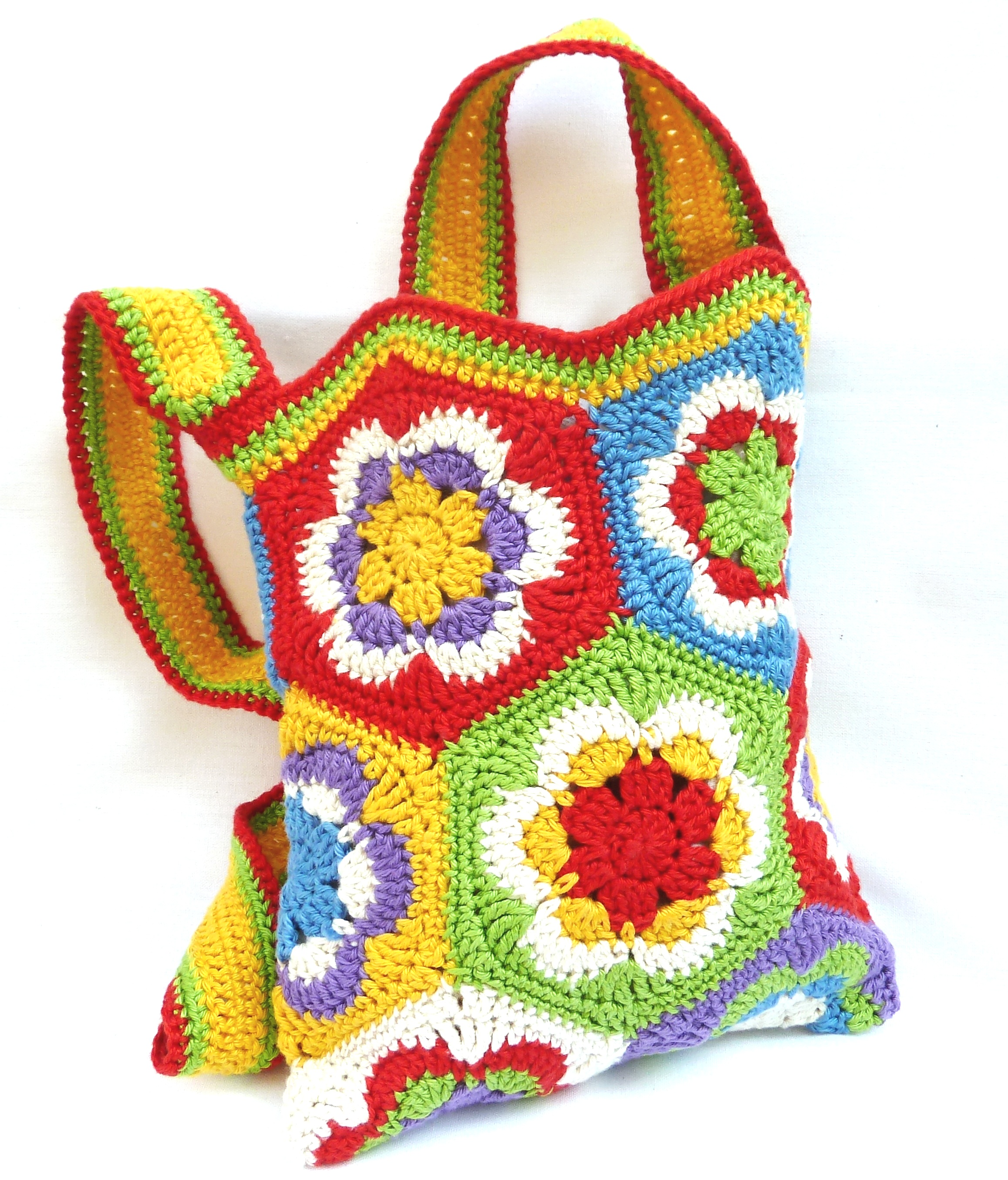 Häkelanleitung: Tasche aus Granny Square\'s