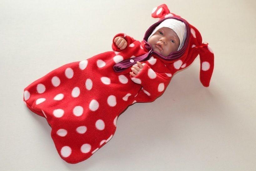 Nähanleitung Puppen Winter Sack EASY aus nur 1 Teil ! - Nähanleitungen bei Makerist sofort runterladen