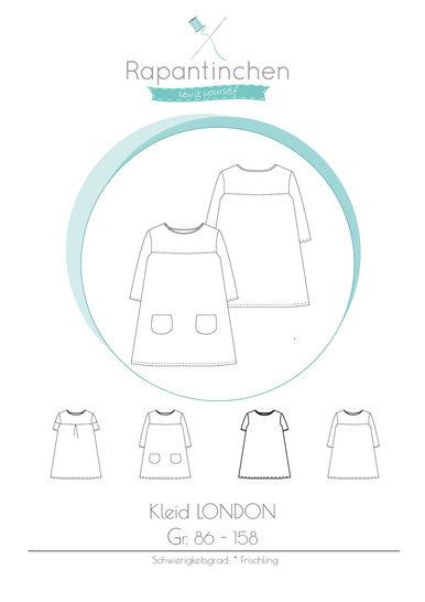 A-Linien-Kleid LONDON mit Nähanleitung und Schnitt - Nähanleitungen bei Makerist sofort runterladen
