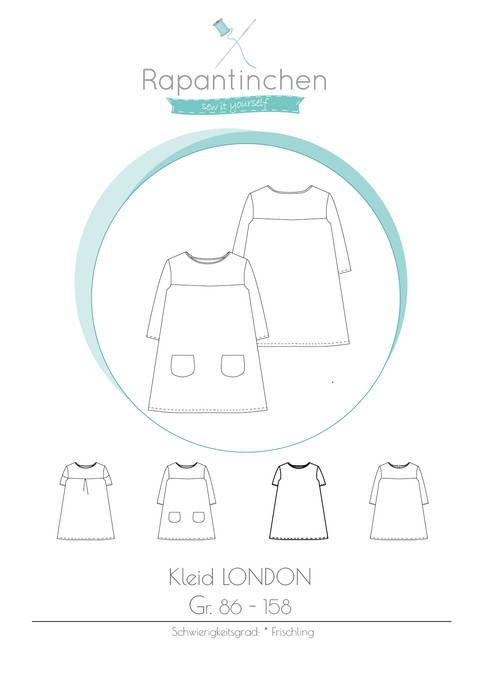 A-Linien-Kleid LONDON mit Nähanleitung und Schnitt bei Makerist sofort runterladen