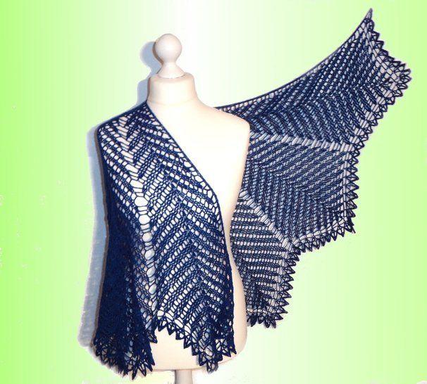 Kentia Shawl, halbrundes Schultertuch - Häkelanleitungen bei Makerist sofort runterladen