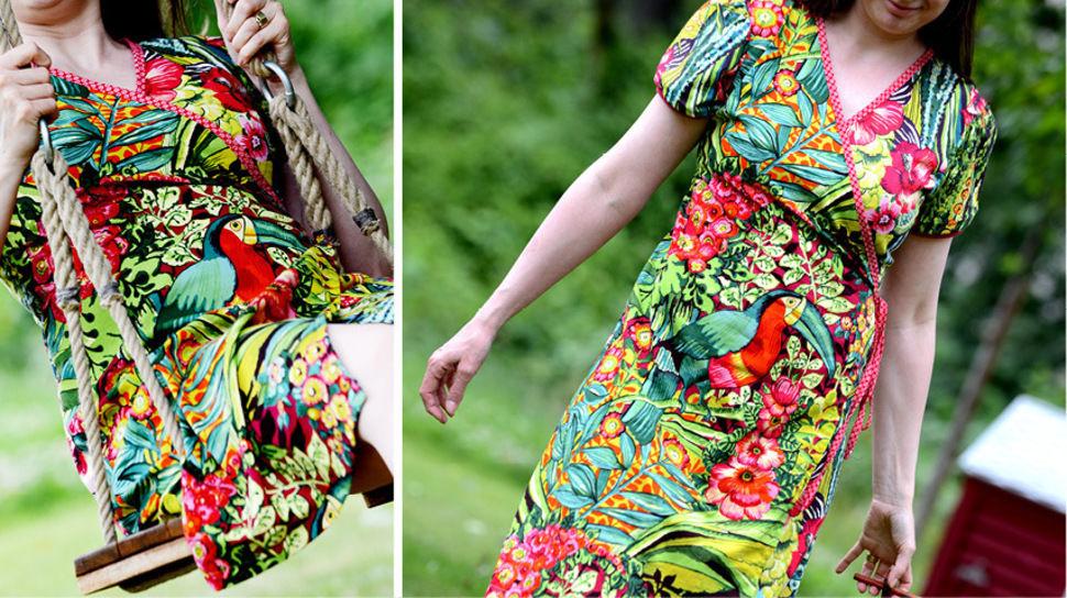 Ebook Wickelkleid Kleid ERUA - Nähanleitungen bei Makerist sofort runterladen
