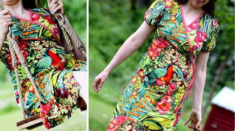 Ebook Wickelkleid Kleid ERUA bei Makerist sofort runterladen