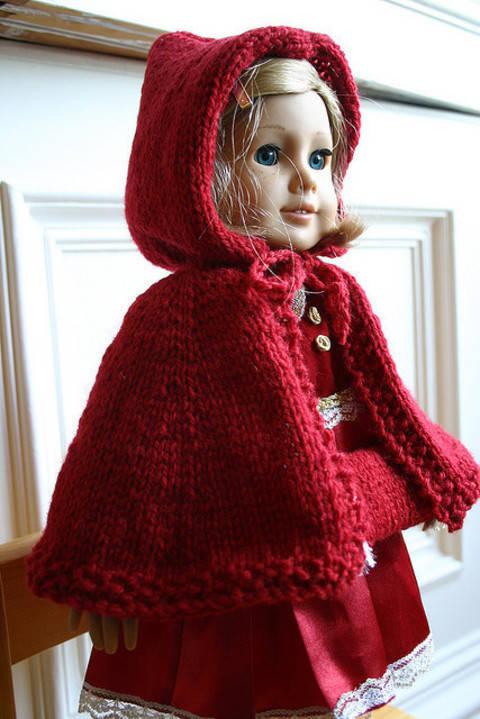 Télécharger Habit Poupée Chaperon Rouge - tricot tout de suite sur Makerist