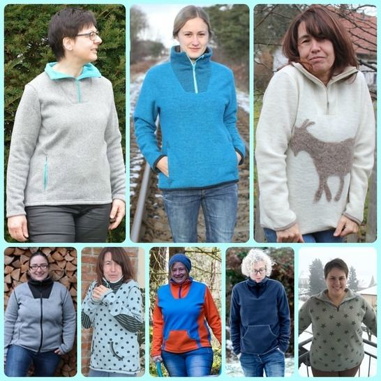 Outdoorpulli Renate Ebook Damenpullover - Nähanleitungen bei Makerist sofort runterladen