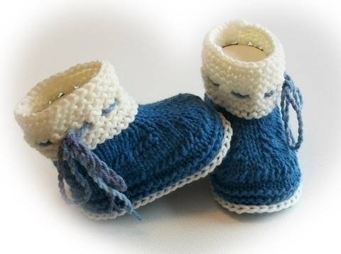 Strickanleitung Baby Boots bei Makerist sofort runterladen