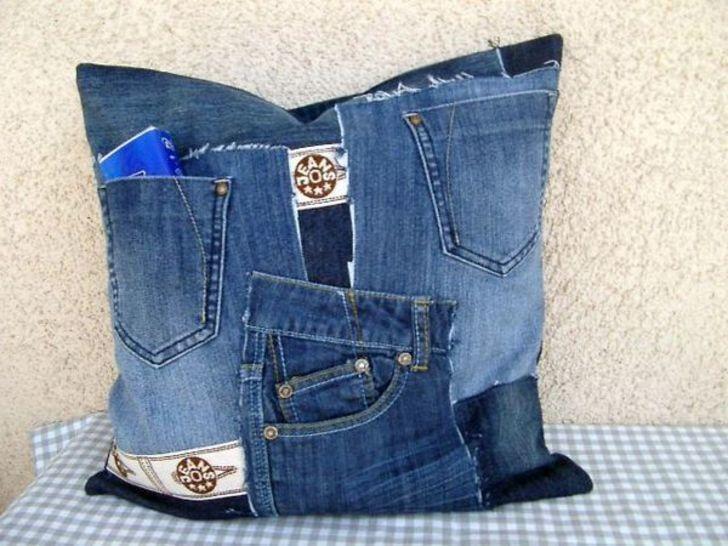 E-Book Nähanleitung für  Recycling Jeanskissen - Nähanleitungen bei Makerist sofort runterladen
