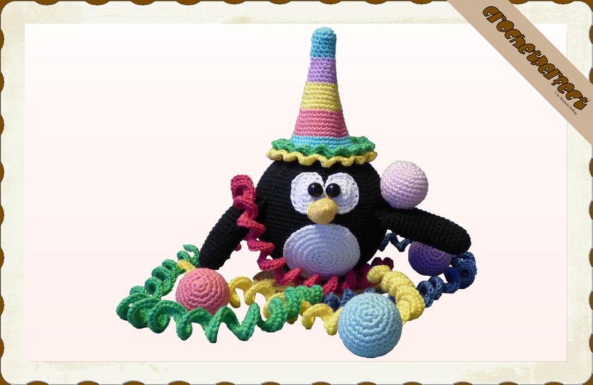 Häkelanleitung (071): Clown Pinguin - Häkelanleitungen bei Makerist sofort runterladen