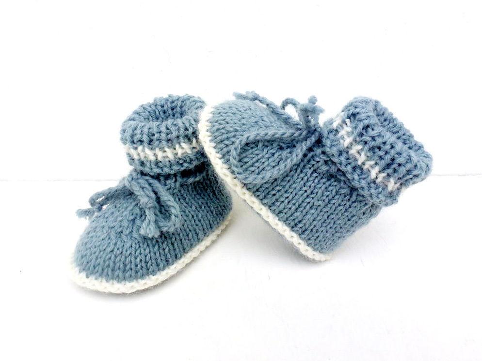 tricoter chausson bebe aiguille 3
