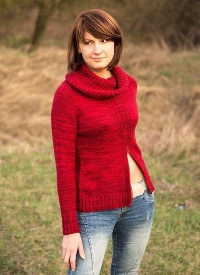 Pullover Zippety  mit Halswärmer - Strickanleitungen bei Makerist sofort runterladen