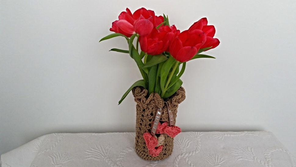 Häkelanleitung Vase/Windlicht Tischdesign No.2 - Häkelanleitungen bei Makerist sofort runterladen