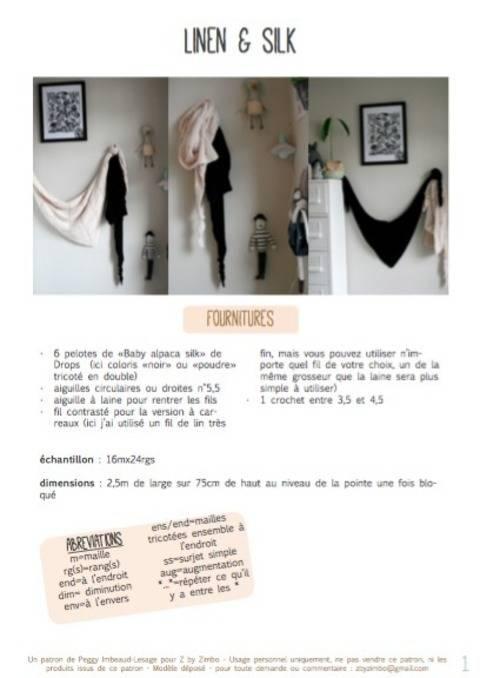 Télécharger Linen & silk - châles tout de suite sur Makerist
