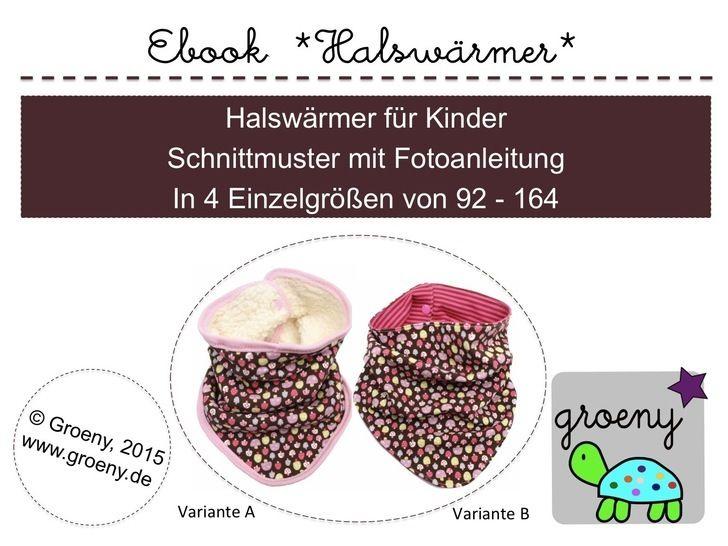 Ebook *Halswärmer* Schal/Tuch für Kinder Gr 92-164 - Nähanleitungen bei Makerist sofort runterladen