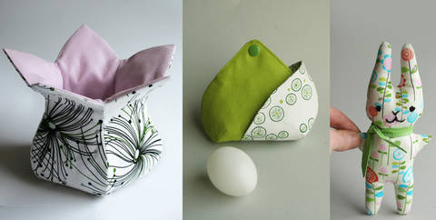 3 Anleitungen: Osterkörbchen, Eierwärmer und Stoffhäschen orimono bei Makerist sofort runterladen